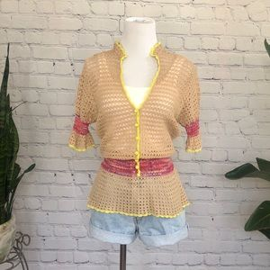 Moda Crochet Knit Blouse
